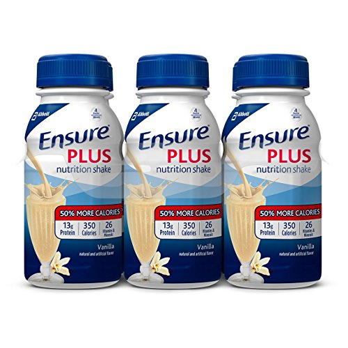 Ensure Plus Nutrition Shake, Vanilla, 8-Ounce Bottle, 6 Count, (Pack of 4)