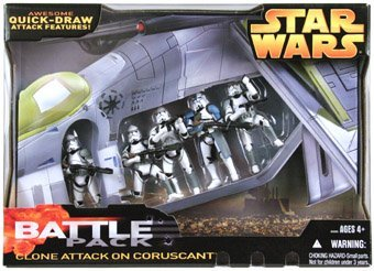 Star Wars Target Exclusive Clone Attack On Coruscant Battle Pack 5 Clones ()