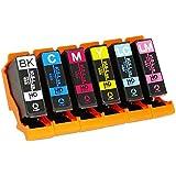 エプソン用 KUI 互換 ( クマノミ 互換 ) インクカートリッジ6色セット インク増量サイズ 対応機種:EP-879AB/879AW/879AR ヨコハマトナーオリジナル