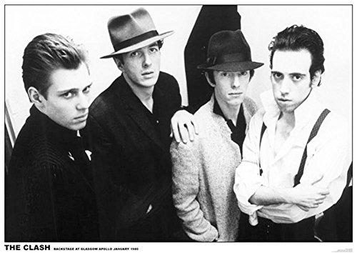 (Clash-Glasgow Apollo 1980 Poster Poster Print, 33x23)