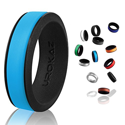 UROKAZ - Silicone Wedding Ring, The Only Ring that Fits Your Lifestyle - Whether You are Single or Married, Ring is Right for You - It is Fashionable, Flexible, and Comfortable from UROKAZ