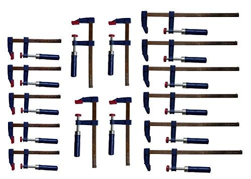 15 tlg. Schraubzwingen Set 50x150 / 50x200 / 50x300mm Schraubzwinge