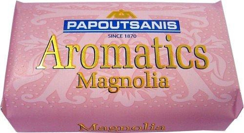 Papoutsanis 4パック - ギリシャソープ - アロマ - マグノリア B000EPUX7G