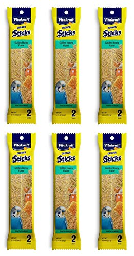 Vitakraft Kracker Sticks with Honey Treat for Parakeets - 6 Pack