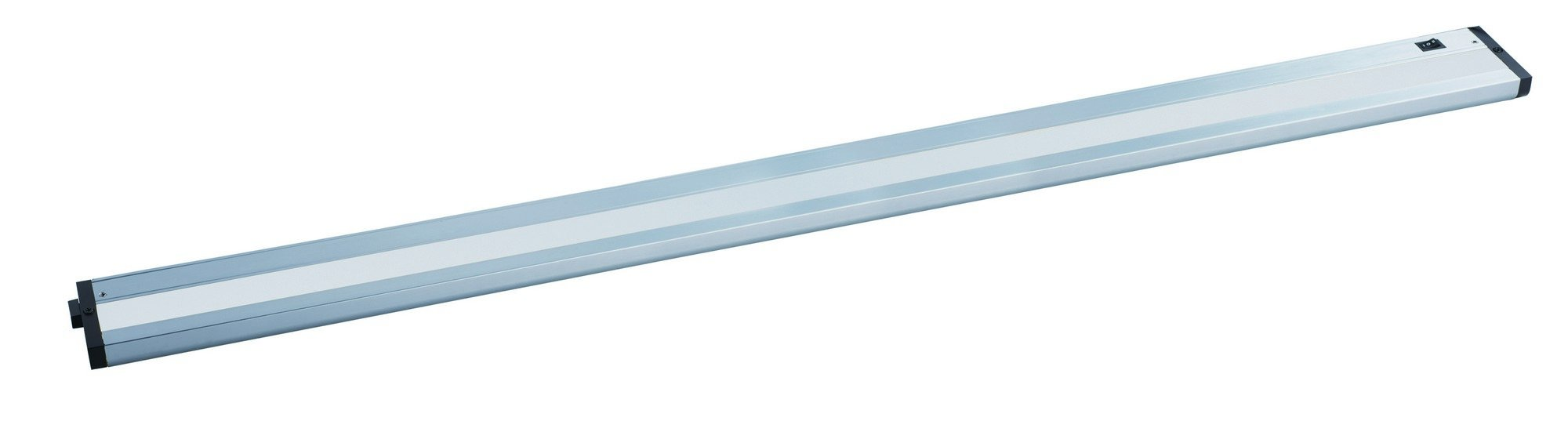 Maxim 89988AL CounterMax MX-L-120-2K 42'' 2700K or 3200K LED UC, Brushed Aluminum Finish, Clear Glass, PCB LED Bulb , 50W Max., Wet Safety Rating, Shade Material, Rated Lumens