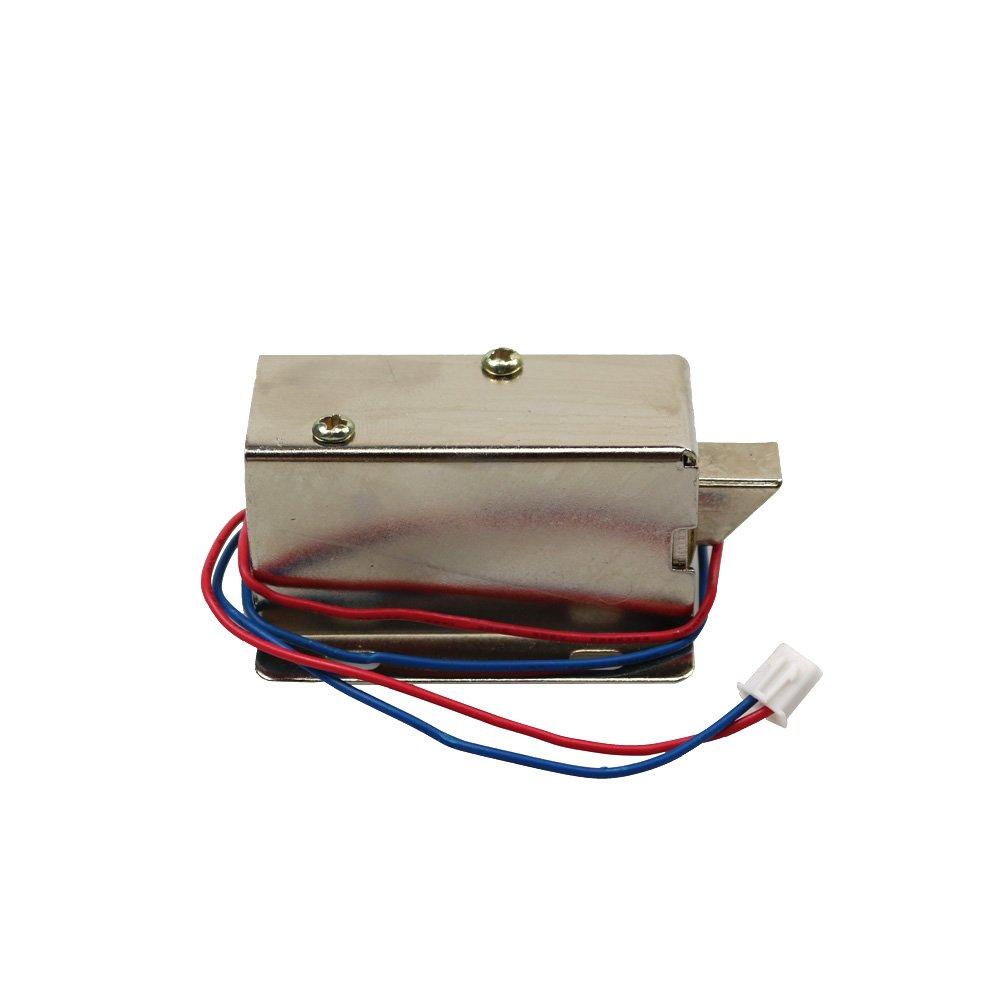 FCBB 6 Holes Dc 24V Cabinet Door Electric Lock Assembly Solenoid