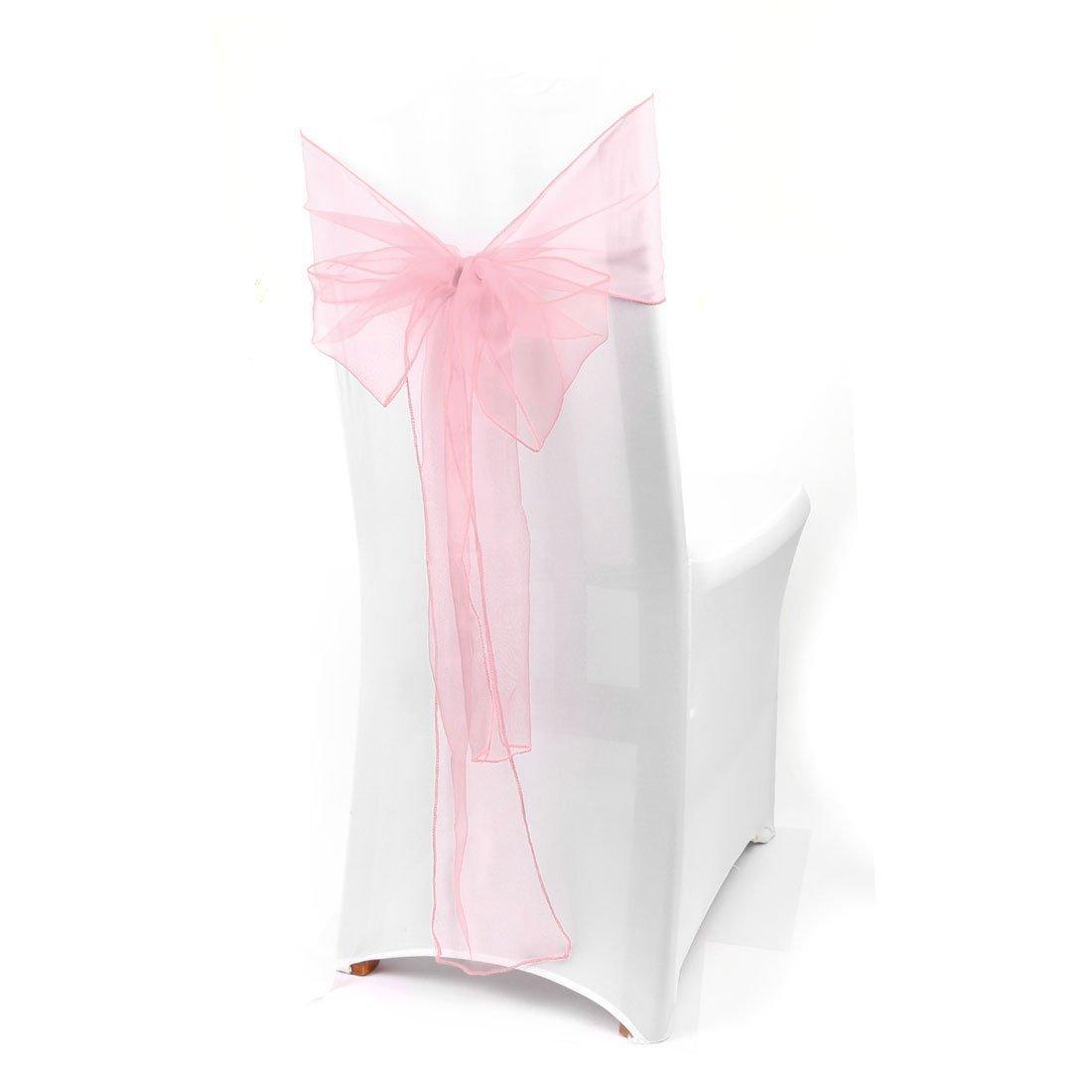 Amazon.com: eDealMax 50pcs Organza Fajas cubierta de la Silla Arcos Sash Fuller arco de Partido banquete de la boda del acontecimiento del cumpleaños ...