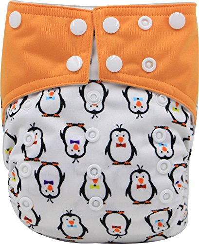 Duo Penguin (Mixmax One Size Baby Cloth Diaper Cover Snap (penguin))