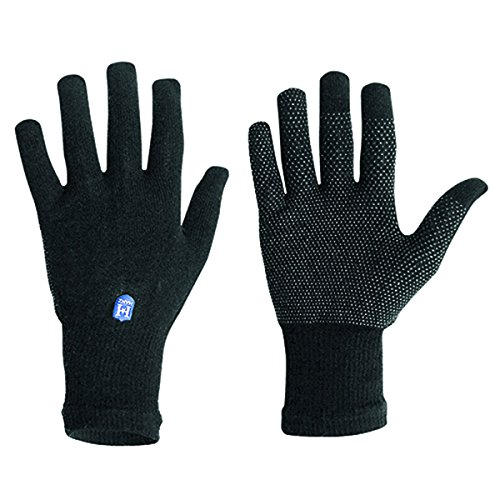 Hanz Midweight Tap-knit Touchscreen Gloves, Black S /m