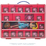 Life Made Better Red Carrying Case, Compatible with Boxy Girls, Figures Playset Organizer (Red)