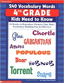Amazon.com: 240 Vocabulary Words 4th Grade Kids Need To Know: 24 ...