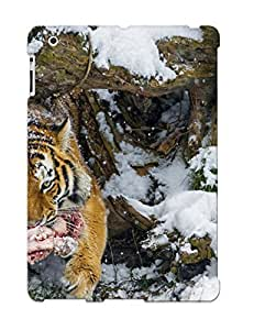 Fashion Tpu Case For Ipad 2/3/4- Cats Tigers Snow Animals Defender Case Cover For Lovers