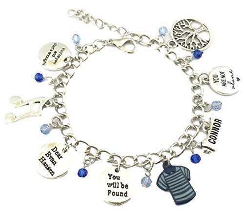 Price comparison product image Broadway's Dear Evan Hansen Musical Assorted Metal Charms BRACELET