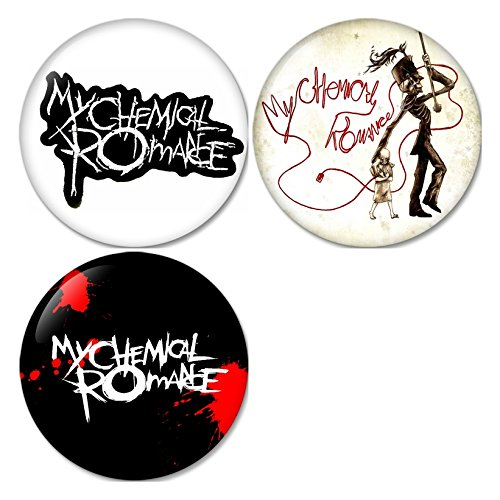 My Chemical Romance #1 Pinback Buttons Badges/Pin 1.25 Inch (32mm) Set of 3 New