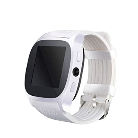QTEC Reloj Inteligente Blanco Bluetooth Smart Watch Soporte Sim TF ...