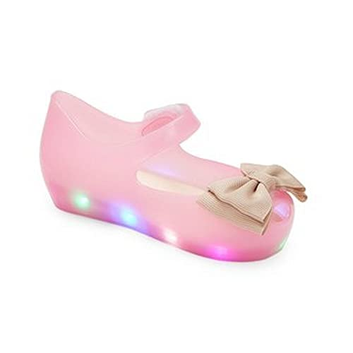 47ec79c45d7 Little Girls Fuchsia LED Light Up Flashing Bow Jelly Shoes 6 Toddler