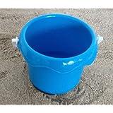 Jeu de sable - Seau pour enfants, bac à sable, plage, disponible en 3 couleurs: vert, rose, bleu (Bleu)