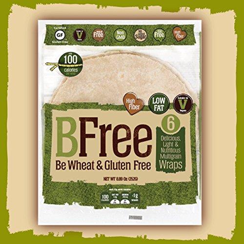 BFree Gluten Free Wrap Tortillas Multigran Dairy Free Wheat Free 8 Inch