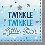 """Club Pack of 192 Blue and Grey One Little Star Boy Luncheon Napkin 6.5"""""""