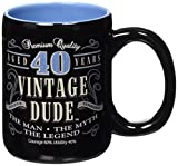 Laid Back 40Th Bd vintage Dude Coffee Mug, 14 oz