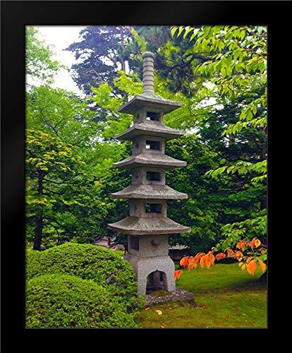 (Pagoda Garden II 15x18 Framed Art Print by Grayscale)
