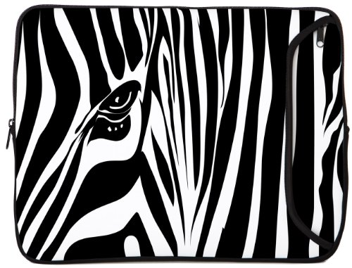 Designer Sleeves 14-Inch Zebra Eye Laptop Sleeve (14DS-ZE)