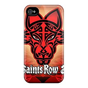 Saraumes Case Cover For Iphone 4/4s - Retailer Packaging Saints Row Desktops Game Protective Case