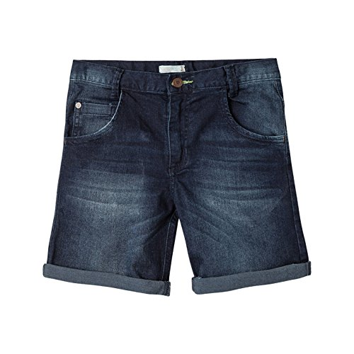 OFFCORSS Slim Fit Chino Shorts for Big Boys Beach Bermudas para Niños Blue 10 by OFFCORSS (Image #4)
