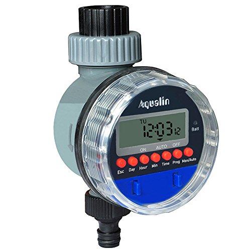 Aqualin Electronic Water Timer Garden Irrigation Controller Digital...