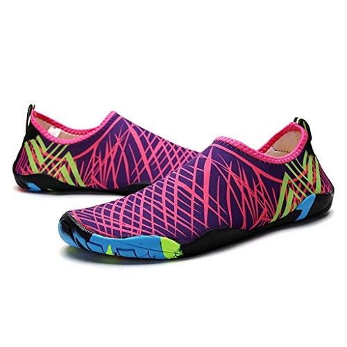 Breathable Wasserschuhe Aquaschuhe Schnell Schuhe Herren HUSK'SWARE on Slip Damen 1 für Trocknend Schwimmschuhe Barfuß Strandschuhe Badeschuhe Rosa T0U1xnxq
