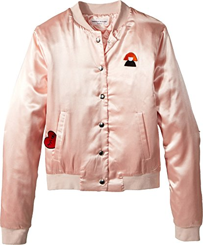 Sonia Rykiel Kids Girl's Alegria Satin Jacket w/Logo On Back (Big Kids) Opera 14 Years by Sonia Rykiel Kids