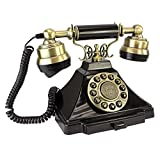 old fashion phones Design Toscano Antique Phone - Royal Victoria 1938 Rotary Telephone - Corded Retro Phone - Vintage Decorative Telephones