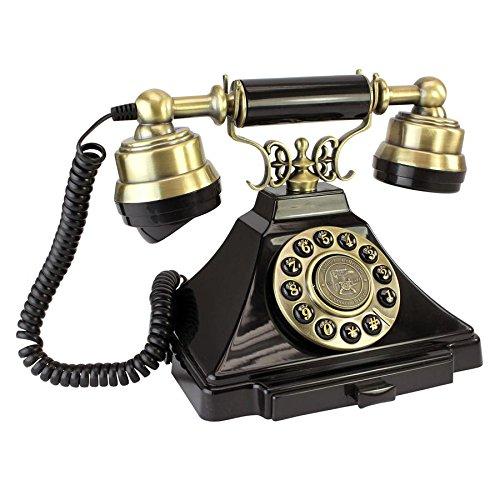 Design Toscano Antique Phone - Royal Victoria 1938 Rotary Telephone - Corded Retro Phone - Vintage Decorative Telephones