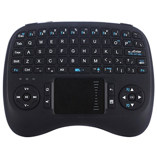iPazzPort Mini Wireless Keyboard with Backlit and Touchpad for Android TV Box and Raspberry Pi 3 and HTPC KP-810-21TL (2017 Updated Version)