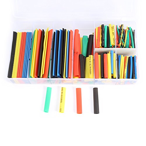 328pcs 2:1 Heat Shrink Wrap Sleeves Tube Sleeving Wire Cable With Box - 1