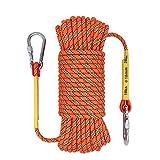 OXYVAN Outdoor Climbing Rope & Carabiner,10mm