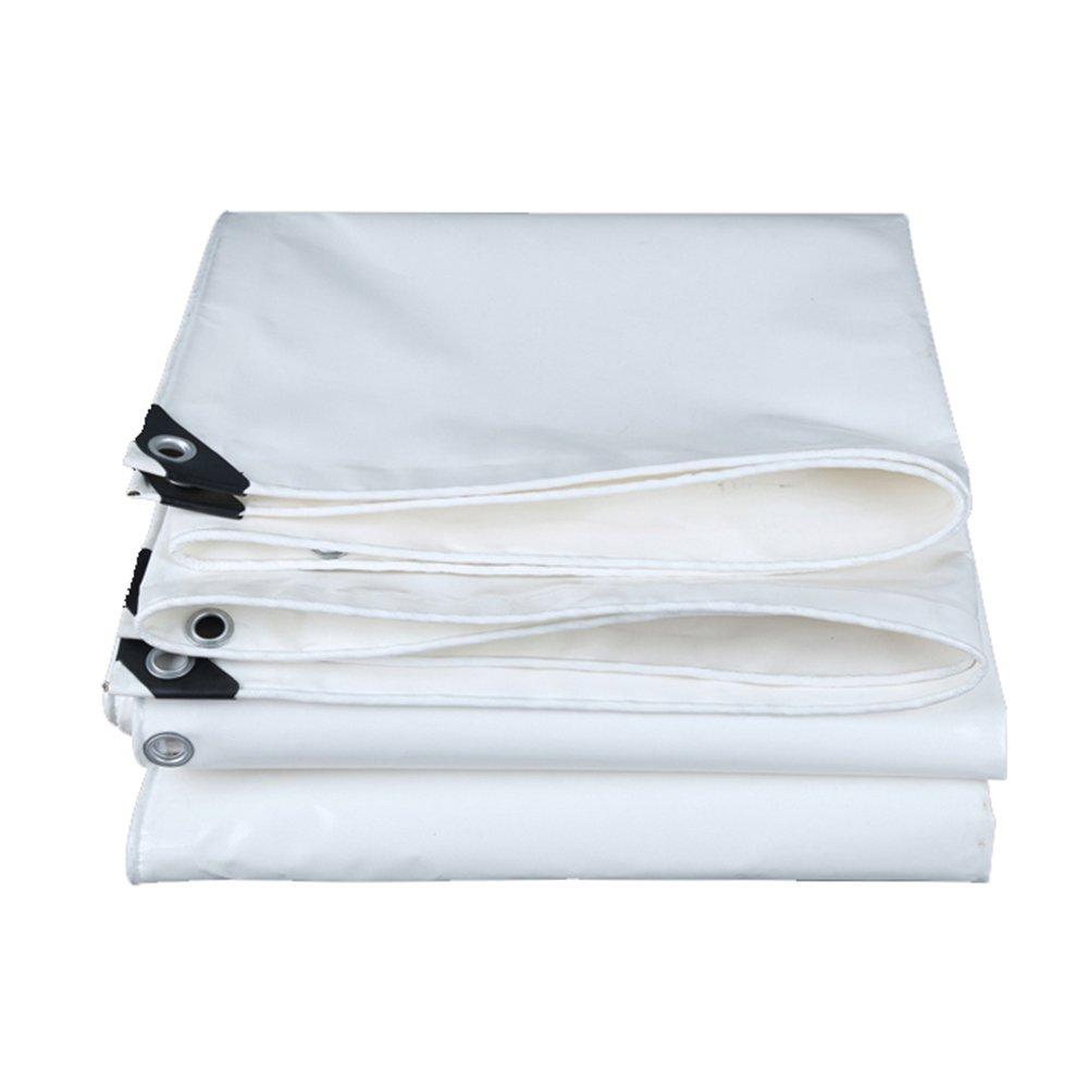 ZEMIN オーニング サンシェード ターポリン 防水 日焼け止め テント シート ルーフ 防風 キャンバス 安定した 防塵の ポリエステル、 白、 550G/M²、 12サイズあり (色 : 白, サイズ さいず : 2X2M) B07D59DM3V 2X2M|白 白 2X2M