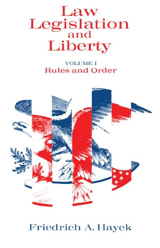 Book cover from Law, Legislation and Liberty, Volume 1: Rules and Order by F. A. Hayek
