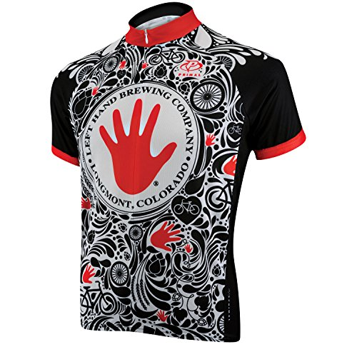 Primal Wear Men's Left Hand Brewing Sport Cut Jersey, Black, X-Large