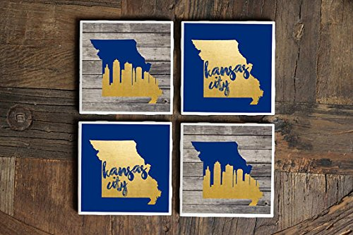 Kansas City Gift/Coasters/Missouri Gift/Kansas City Skyline/KC/Kansas City/Royals/Kansas City Coasters/Home/Decor/Gift -