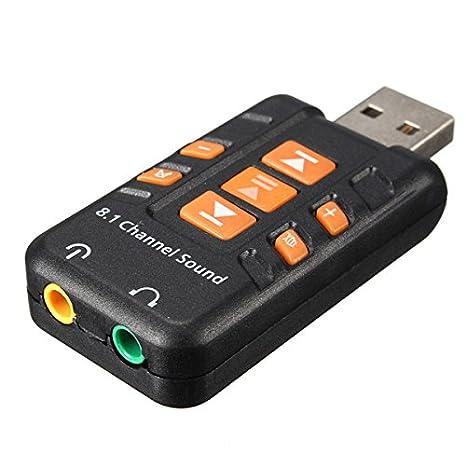 Tutoy USB Externo 8,1 Canal 3D Audio Virtual Tarjeta De ...