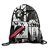 Maurm New York Buffalo Drawstring Bags Fashion Backpack Shoulder Bags Gym Sport Pack