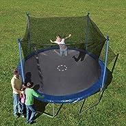 Trainor Sports 12-feet Round Trampoline & Enclosure Combo | Heavy Duty Bouncy Outdoor/Backyard Trampoline