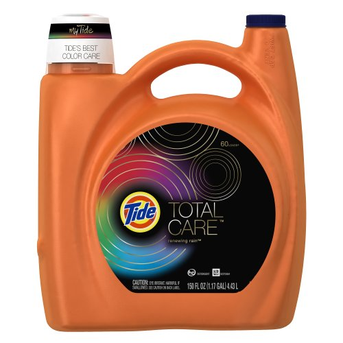 Tide Total Care He Renewing Rain Scent Liquid Laundry Detergent 150 Fl Oz (Pack of 4) by Tide