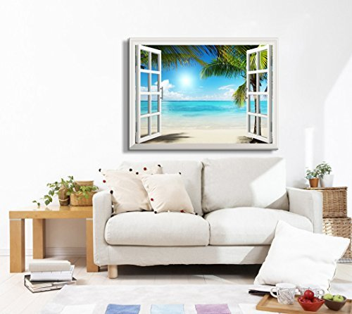 wall26 - Beautiful Tropical Beach Gallery - Canvas Art Wall Decor - 32'' x 48''