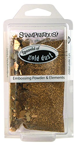 STAMPENDOUS Spoonful Gold Dust Embossing Powder Plus Kit