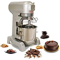 vinod industries Stainless Steel Multi-Function Electric 300 W, 1080 RPM, 10 L Capacity Food Grade Industrial Bread Spiral Dough Mixer for Bakery Use with Bowl, 5 L (Silver)