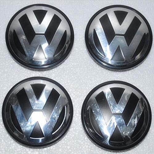 Ycsm 4 Pcs 76MM Wheel Center Hub Cap For Apply to 04-10 Volkswagen Touareg 16