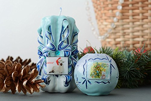 Set Of Christmas Candles by Handmade
