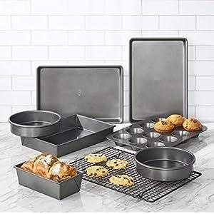 Chicago Metallic Professional Non-Stick 8-Piece Bakeware Set, Silver